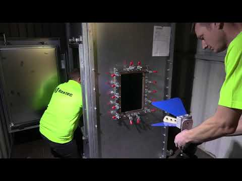 Testing at Roxtec - Electromagnetic shielding test