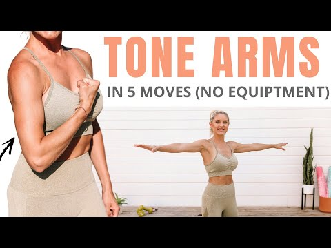 5 Best Moves for TONED ARMS (no equipment) Rebecca Louise