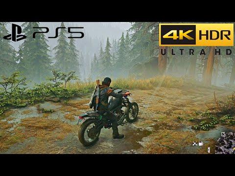 Days Gone PS5 HDR Free Roam Rainy Gameplay (4K 60FPS) Pt.4