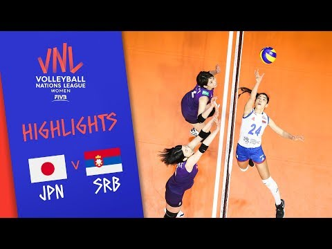 JAPAN vs. SERBIA - Highlights Women | Week 4 | Volleyball Nations League 2019