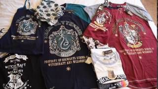 Harry Potter Hogwarts Clothing Collection. Gryffindor And Slytherin