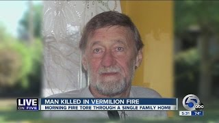 Man dies in Vermilion morning fire