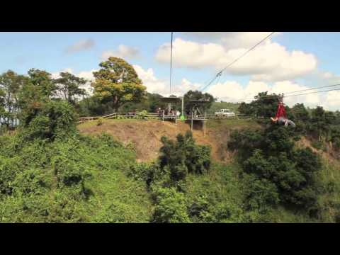 The Beast Zip Line (real time) @ Toro Verde in Puerto Rico (2012)