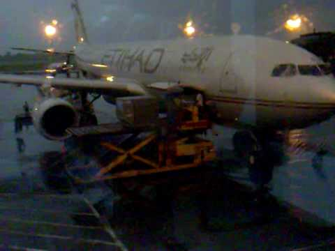 Moments before to boarding Etihad Plane in Dhaka Airport