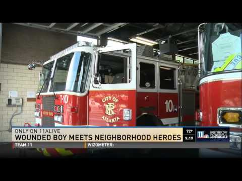 Montlick  Associates' Hero Central - Wounded Boy Meets Neighborhood Heroes