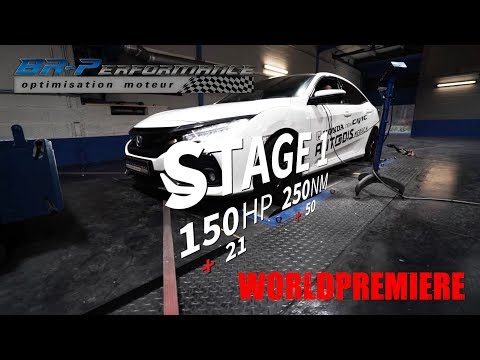 WORLDPREMIERE HONDA CIVIC 1.0T Remap Stage 1 By BR-Performance