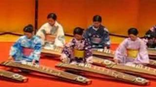 Un instrumento musical japonés/Koto