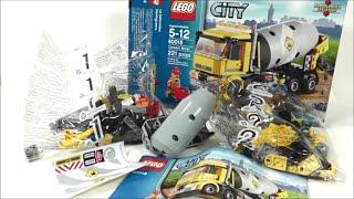 Unboxing LEGO City Cement Mixer 60018