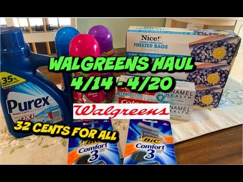 WALGREENS HAUL (4/14 - 4/20) | EVERYTHING FOR 32¢ & WITH A MISTAKE 😱