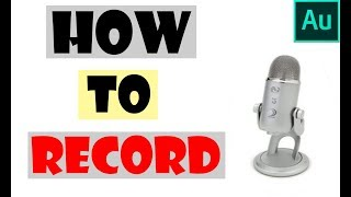 How to record in Adobe Audition CS6