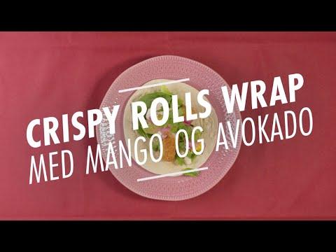 Oppskrift: Crispy Rolls Wrap med mango og avokado