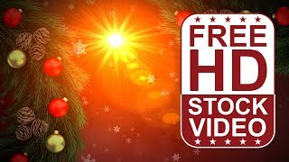 FREE HD video backgrounds – celebrations – Christmas frame greeting card with Christmas balls