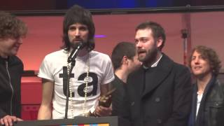 Kasabian NME Awards speech Best Album Brixton Academy