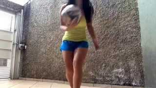 Raquel Benetti - Desafio do Robinho - Santos TV