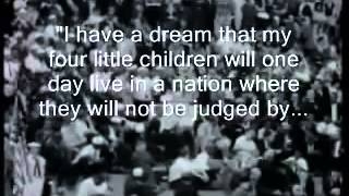 "Martin Luther King "" I have a dream""  with Subtitles"