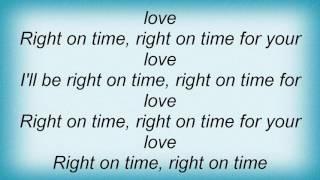 Sasha - Right On Time Lyrics