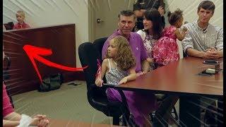 Menina de 5 anos vai ser adotada mas algo acontece no tribunal