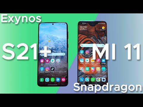 Samsung Galaxy S21+ vs Xiaomi Mi 11 | Ex …