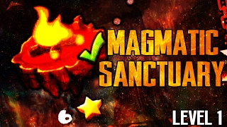 "[FIRE GAUNTLET] ""MAGMATIC SANCTUARY"" 100% Complete - LEVEL 1 - GEOMETRY DASH 2.1"