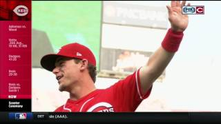 Reds honor Scooter Gennett for 4 home run game