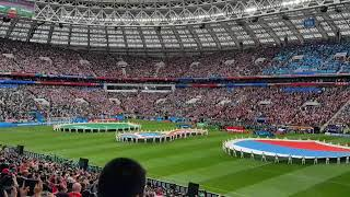 WorldCup 2018 opening. Russia - Saudia Arabia. Russian anthem