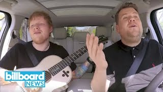Ed Sheeran Joins James Corden for 'Carpool Karaoke' in London | Billboard News
