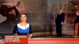 Opilý (?) prezident Miloš Zeman - korunovační klenoty ČR 9.5.2013