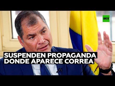 Una delegación provincial de Ecuador suspende la propaganda partidaria donde aparece Correa