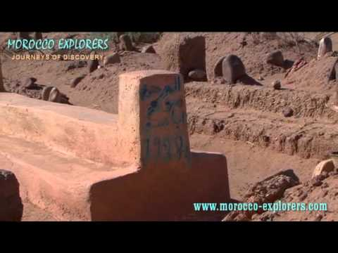 Morocco burial ground of the village graveyard – A Desert Village in the Sahara