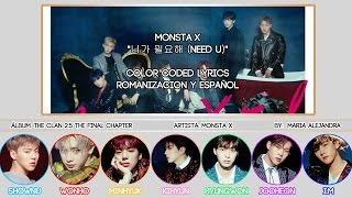 "MONSTA X (몬스타엑스) ""니가 필요해 (Need U)"" [COLOR CODED] [ROM