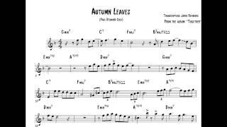 Paul Desmond Solo Transcription on Autumn Leaves - alto saxophone