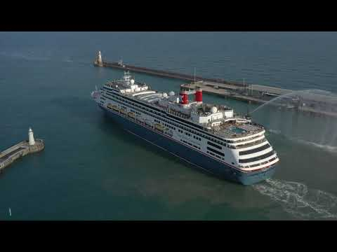 Bolette's Maiden Voyage sail away from Dover