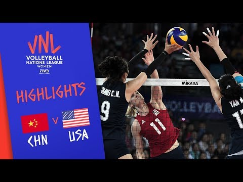 CHINA vs. USA - Highlights Women | Week 4 | Volleyball Nations League 2019