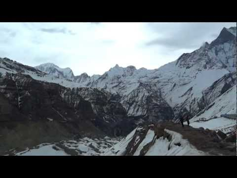 View From Annapurna Base Camp (ABC) in Nepal