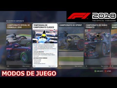 F1 2018 - Modos de juego (Modo Carrera, Evento, Campeonatos, ...) PC PS4 XOne    Gameplay Español