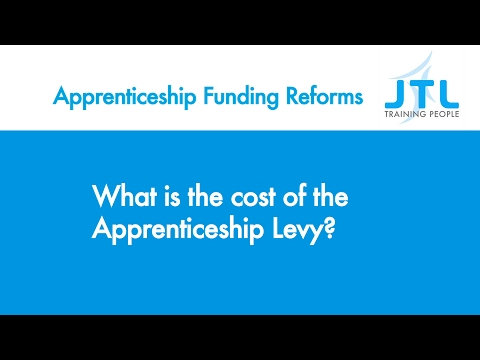 What is the cost of the Apprenticeship Levy  - JTL Apprenticeship Funding Reform Guidance