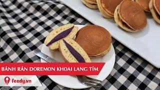 Hướng dẫn cách làm bánh rán doremon nhân khoai lang tím - Taro dorayaki