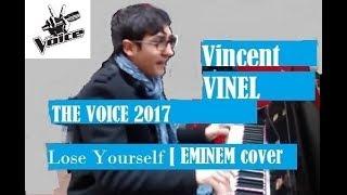 Lose yourself Eminem cover  Vincent Vinel The Voice 2017 public impro - Paris