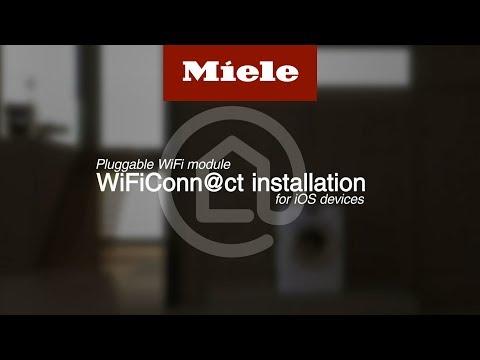 Installera WiFiConn@ct på iOS-enheter – insticksmodul (kommunikationsmodul) I Miele
