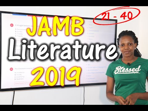 JAMB CBT Literature in English 2019 Past Questions 21 - 40