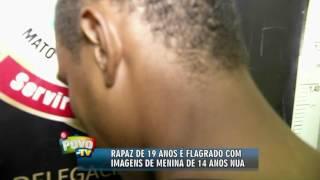 Jovem é detido com fotos de menina de 14 anos nua