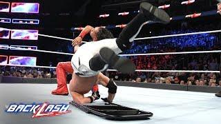 Shinsuke Nakamura mercilessly slams AJ Styles onto a steel chair: WWE Backlash 2018 (WWE Network)