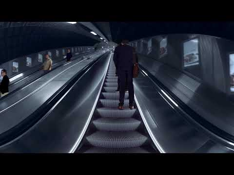 VR escalator by KONE