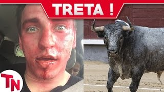 Youtuber luta com touro em livestream e vai parar no hospital