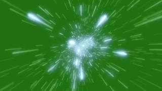 Efeito Deslocação de Estrelas - Particle Stars [Fundo Verde - Chroma Key]