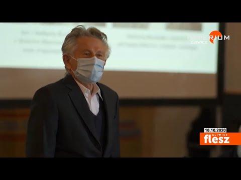 Flesz Gliwice / Roman Polański na uroczystości Sprawiedliwi Wśród Narodów Świata