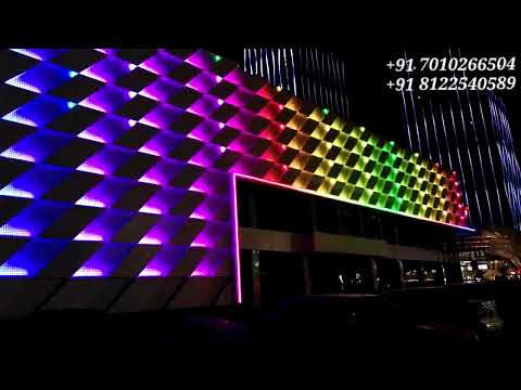 Hotel Building Elevation Design | Facade LED Lighting Design India +91 81225 40589 (WA)