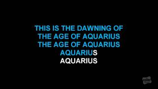 Aquarius in the style of Hair karaoke video (Broadway Version)