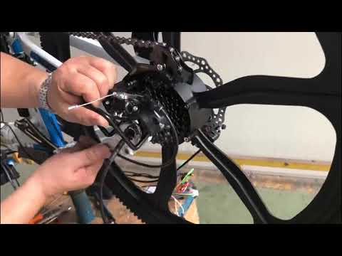 How to replace the rear wheel and inner tube AN-EB002  US UK EU