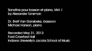 Tansman - Sonatine pour basson et piano, Mvt. I